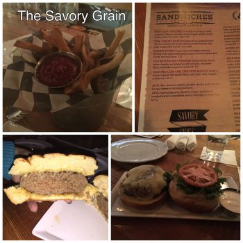 The Savory Grain Burger Special With Fries