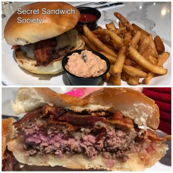 Secret Sandwich Society Burger and Fries