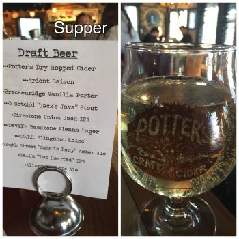 Draft Beer List at Supper