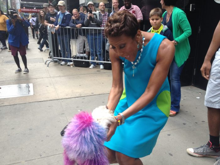 Robin Roberts is as happy to meet Chilly as we were to welcome him home!
